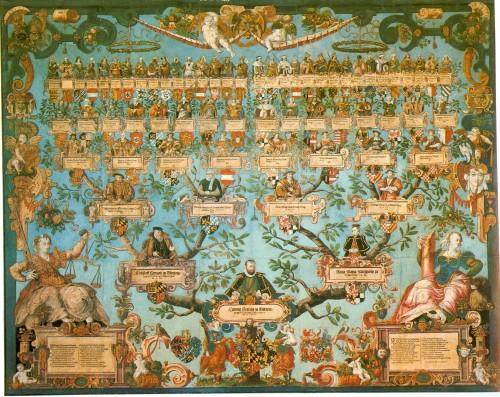 Kwartierstaat van hertog Lodewijk van Württemberg (Joachim Lederlin naar Jakob Züberlin, 1585)
