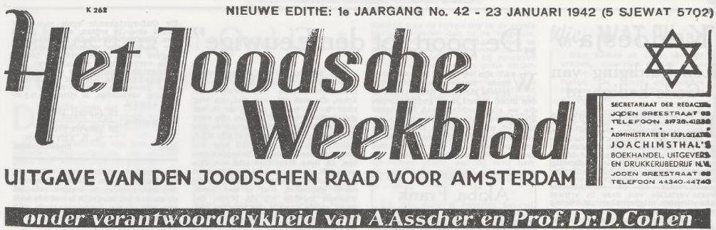 Het Joodsche Weekblad