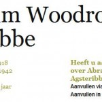 Vernoemd naar de president: Abraham Woodrow Agsteribbe