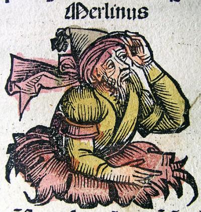 Merlijn (Hartmann Schedel, Kroniek van Neurenberg, 1493)