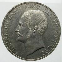 Munt uit 1840 met de afbeelding van vorst Heinrich LXXII
