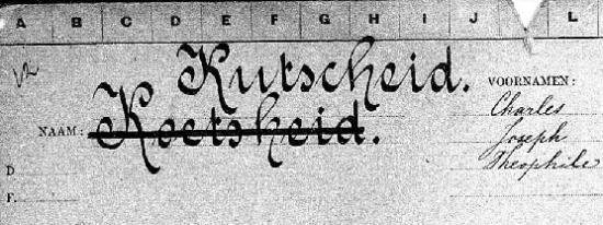 Bevolkingsregister Den Haag 1913-1939