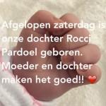 Gers Pardoel wordt vader van Rocci, zusje van Goud