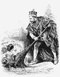Spotprent in het satirische tijdschrift Punch, 1917