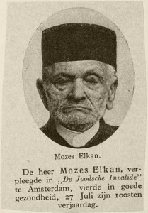 Mozes Salomon Elkan in een onbekende krant (collectie Veenhuijzen, CBG)