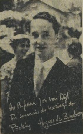 Carel Hugo tekende in 1956 nog gewoon als Hugues de Bourbon