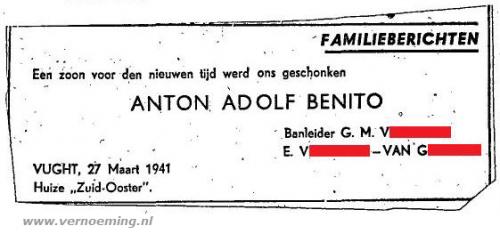 Een zoon voor den nieuwen tijd: Anton Adolf Benito (CBG)