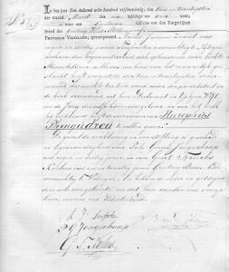 Geboorteakte Hierophus Pheugudrou Zeevat (Fryslan1811.nl)