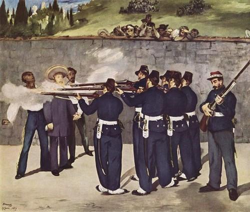De executie van keizer Maximiliaan van Mexico door Édouard Manet (1868)