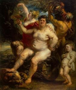 Bacchus door Peter Paul Rubens