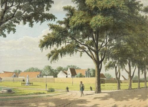 Fort Rotterdam te Makassar in de jaren 1880 (tekening J.C. Rappard, collectie Tropenmuseum)