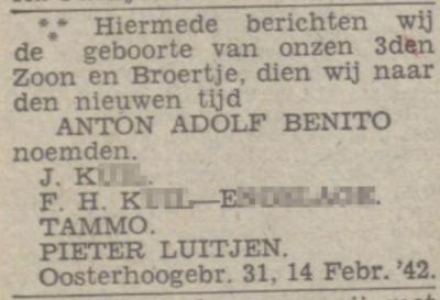 Nieuwsblad van het Noorden, 18 februari 1942