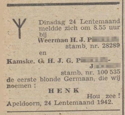 De Zwarte Soldaat, 2 april 1942