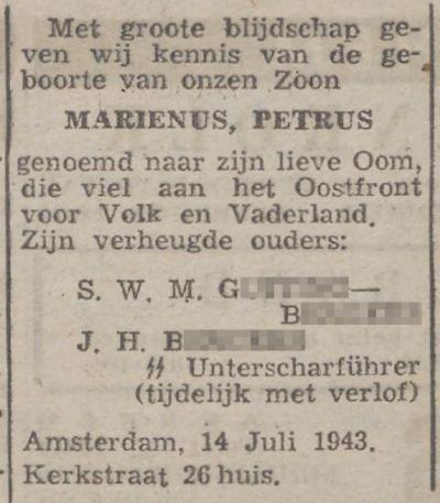 De Zwarte Soldaat, 22 juli 1943