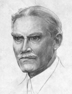 De Belgische dichter Albert Mockel