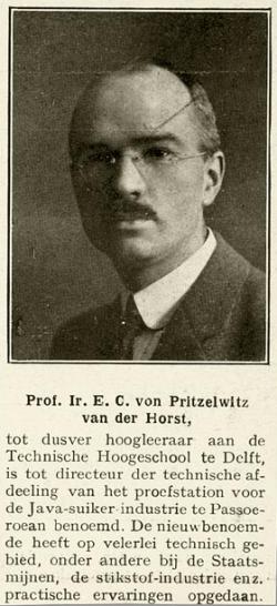 Prof. ir. E.C. von Pritzelwitz van der Horst