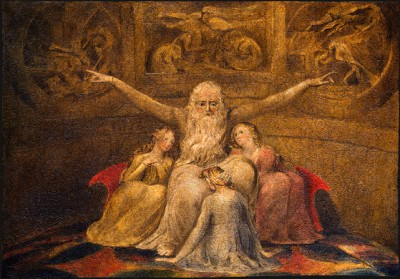 William Blake: Job en zijn dochters (1799/1800)
