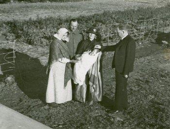 Een doop tijdens het Voortrekkers-eeuwfeest (foto: Universiteit Stellenbosch)
