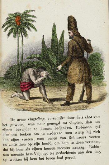 Robinson Crusoë en Vrijdag (De lotgevallen van Robinson Crusoe, 19e eeuw)