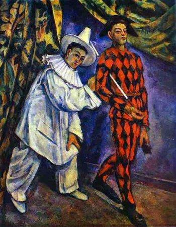 Paul Cézanne: Pierrot en Harlekijn (1888)