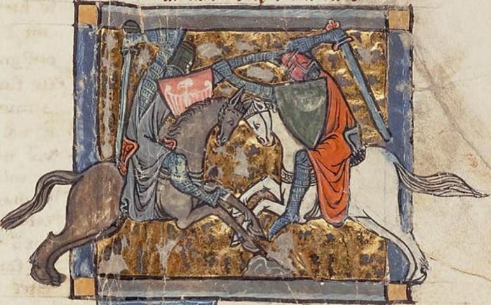 Iwein en Walewein (Garrettmanuscript nr. 125, ca. 1295)